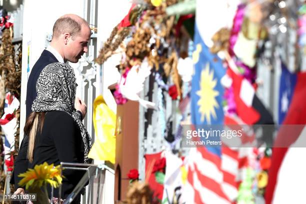 Prince William Duke of Cambridge arrives at Al Noor Mosque on April 26 2019 in Christchurch New Zealand Prince William is on a twoday visit to New...