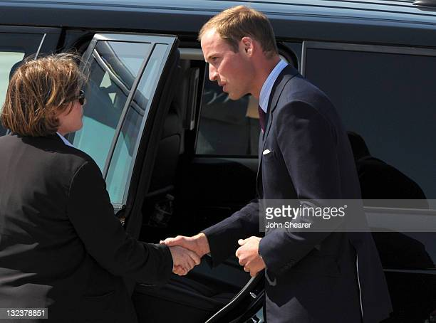 Prince William, Duke of Cambridge arrives at LAX Airport on July 8, 2011 in Los Angeles, California.
