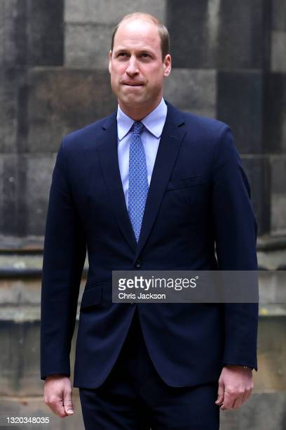 Prince William, Duke of Cambridge arrives at the Closing Ceremony of the General Assembly of the Church of Scotland at the General Assembly Buildings...