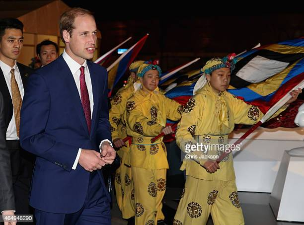 Prince William Duke of Cambridge arrives at the GREAT Festival of Creativity at the Long Museum on March 2 2015 in Shanghai China Prince William Duke...