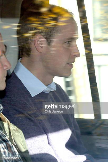 Prince William Duke of Cambridge arrives at the King Edward VII Private Hospital on December 4 2012 in London England Catherine Duchess of Cambridge...