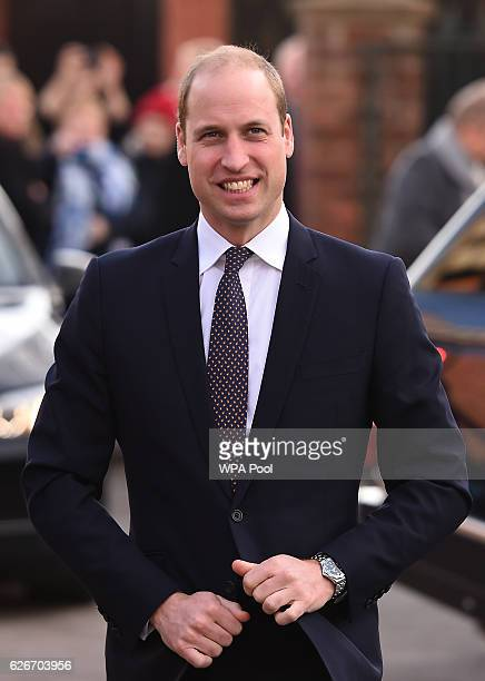 Prince William Duke of Cambridge arrives for a visit to Padley Development Centre on November 30 2016 in Derby England Padley founded in 1985 is a...