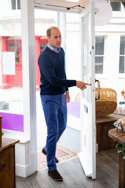 GBR: The Duke of Cambridge Visits Bakers in King's Lynn