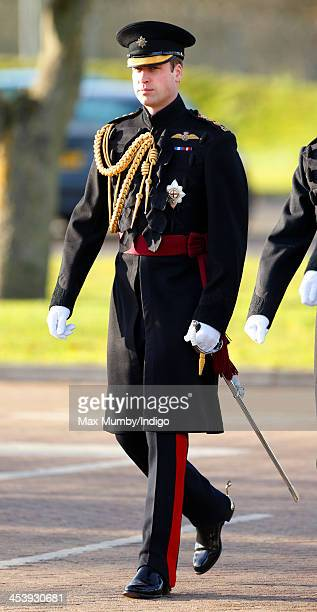 Prince William Duke of Cambridge arrives to present Operational Service Medals for deployment in Afghanistan to soldiers of 1st Battalion Irish...