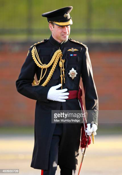 Prince William, Duke of Cambridge arrives to present Operational Service Medals, for deployment in Afghanistan, to soldiers of 1st Battalion Irish...