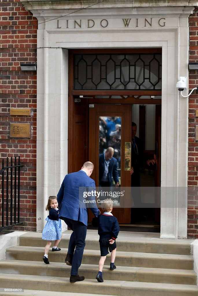 Prince William Duke of Cambridge arrives with Prince George and Princess Charlotte at the Lindo & Through The Doors Of The Lindo Wing Take a look back at the biggest ...