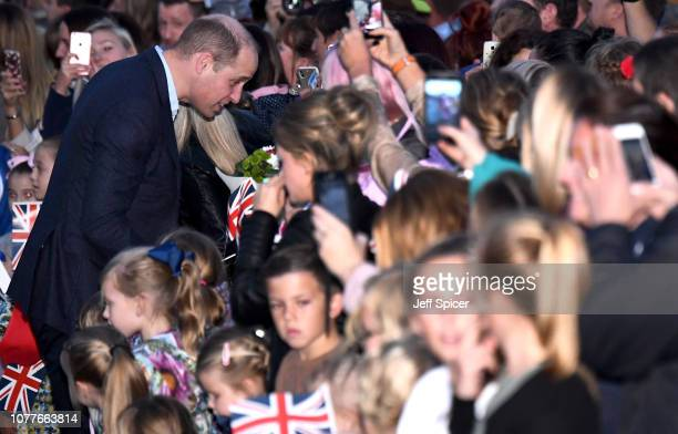 Prince William Duke of Cambridge at RAF Akrotiri where he met with serving personnel families living on the base and members of the local community...