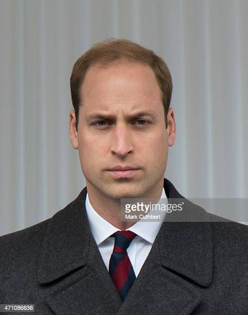 Prince William Duke of Cambridge attends a commemorative ceremony marking the centenary of the Gallipoli campaign on April 25 2015 in London England