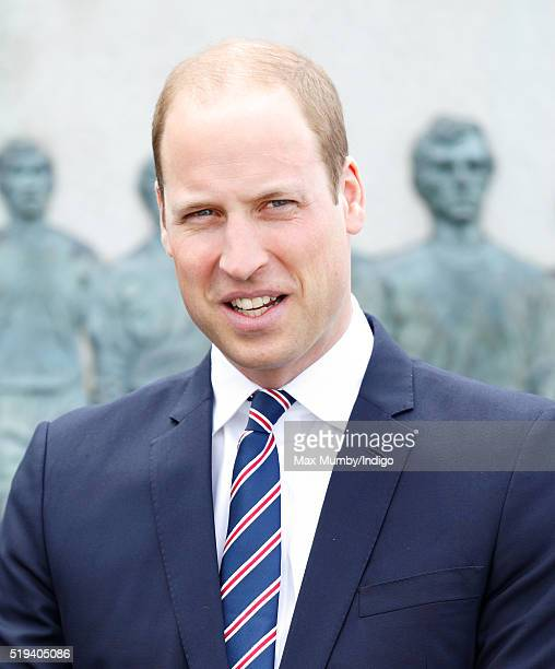 Prince William Duke of Cambridge attends a lunch to mark 10 Years as President of The FA at Wembley Stadium on April 6 2016 in London England
