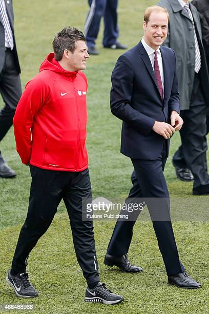 Prince William Duke of Cambridge attends a Premier Skills Football Event at Nanyang Secondary School on March 3 2015 in Shanghai China The Duke of...