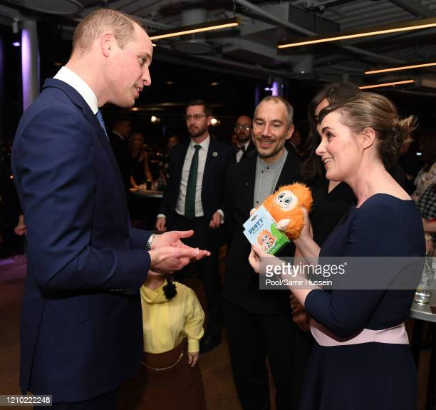 Prince William, Duke of Cambridge attends a reception hosted by the British Ambassador to Ireland Robin Barnett at the Guinness Storehouse's Gravity...