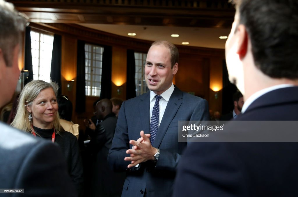 Prince William, Duke of Cambridge attends a reception where he meets runners who feature in the documentary and the production team involved in the filming ahead of the screening of the BBC documentary 'Mind over Marathon' at BBC Radio Theatre on April 18, 2017 in London, England. The screening also launches the BBC season on mental health.