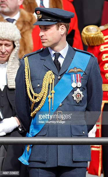 Prince William Duke of Cambridge attends a Service of Commemoration to mark the end of combat operations in Afghanistan at St Paul's Cathedral on...