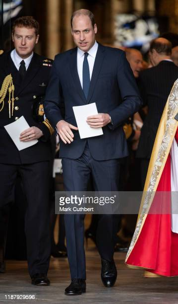 Prince William Duke of Cambridge attends a Service of Thanksgiving for the life and work of Sir Donald Gosling at Westminster Abbey on December 11...