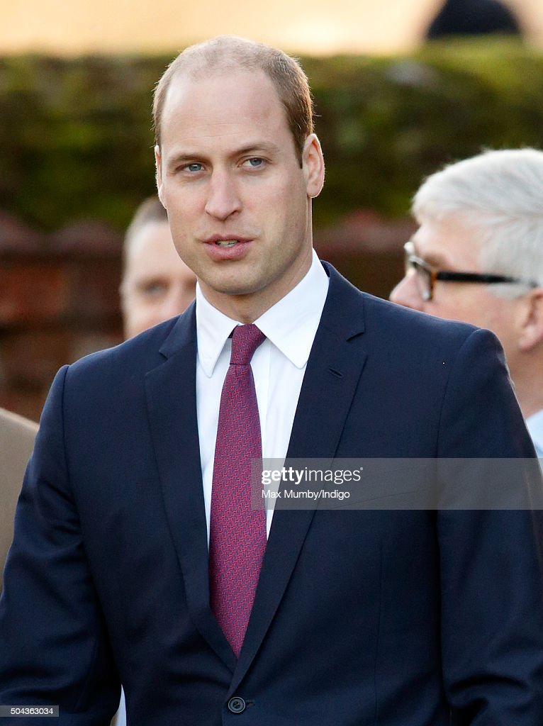 Prince William, Duke of Cambridge attends a wreath laying ceremony to mark the 100th anniversary of the final withdrawal from the Gallipoli Peninsula at the War Memorial Cross, Sandringham on January 10, 2016 in King's Lynn, England.