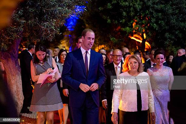Prince William Duke of Cambridge attends an Independance Day reception in Upper Barakka Gardens during an official visit to Malta on September 20...