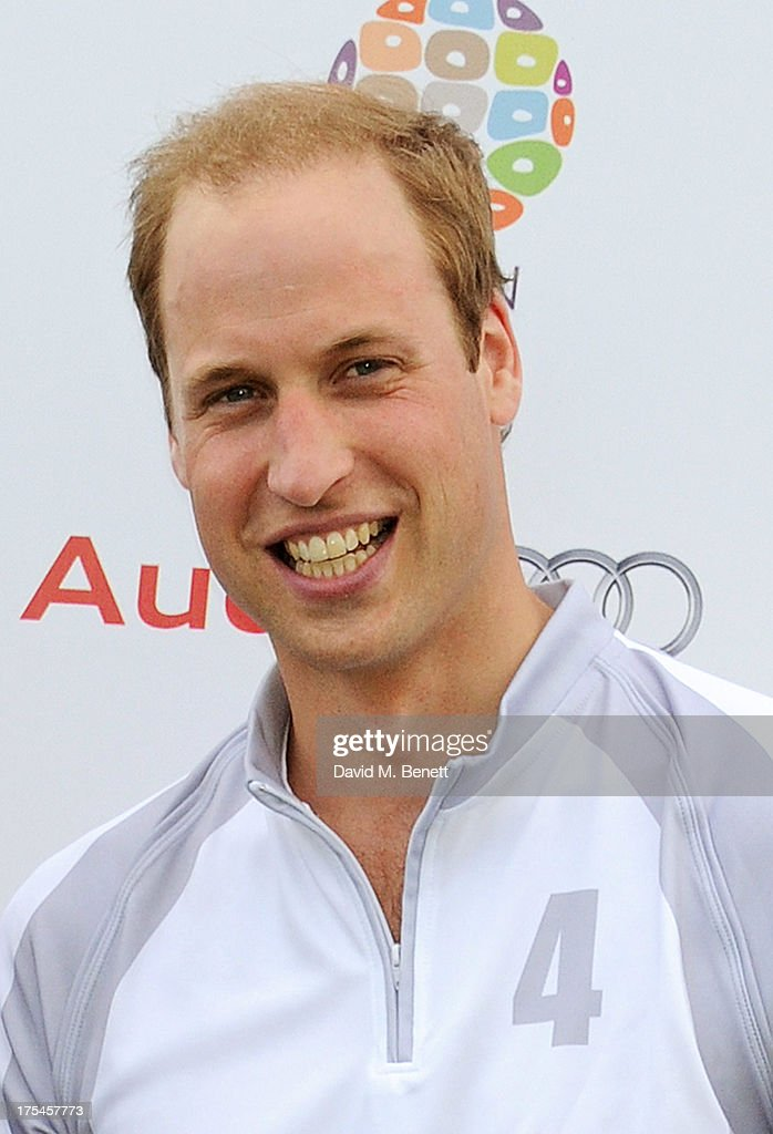 Prince William, Duke of Cambridge, attends day 1 of the Audi Polo Challenge at Coworth Park Polo Club on August 3, 2013 in Ascot, England.