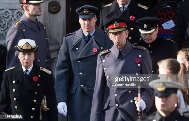 Prince William Duke of Cambridge attends the annual Remembrance Sunday memorial at The Cenotaph on November 10 2019 in London England