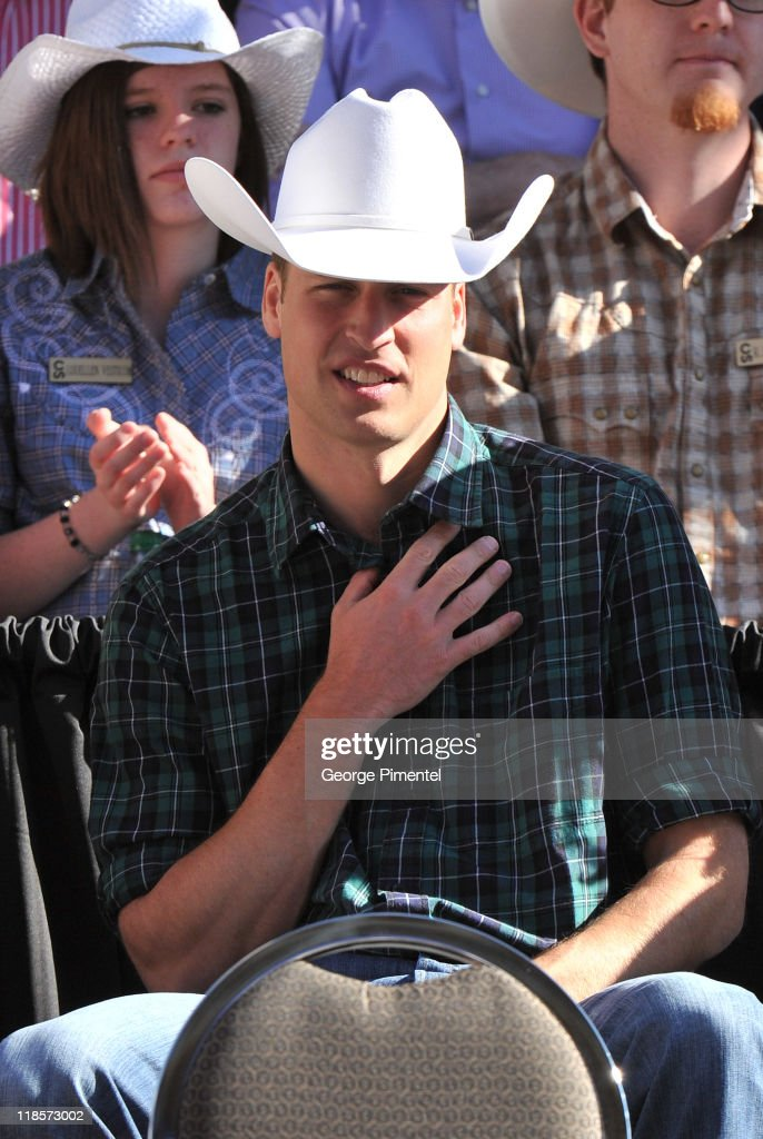 Prince William, Duke of Cambridge attends the Calgary Stampede Parade on day 9 of the Royal couple's tour of North America on July 8, 2011 in Calgary, Canada.