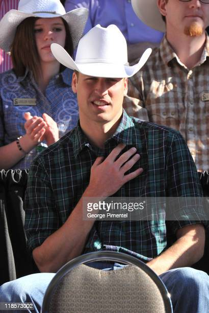 Prince William, Duke of Cambridge attends the Calgary Stampede Parade on day 9 of the Royal couple's tour of North America on July 8, 2011 in...