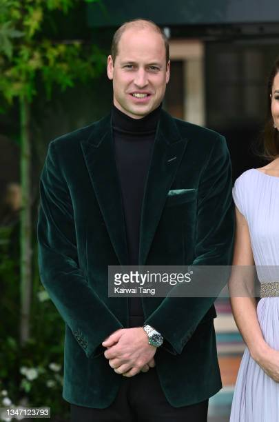 Prince William, Duke of Cambridge attends the Earthshot Prize 2021 at Alexandra Palace on October 17, 2021 in London, England.