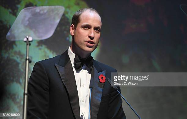 Prince William Duke of Cambridge attends The London Evening Standard Theatre Awards at The Old Vic Theatre on November 13 2016 in London England