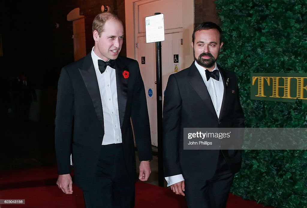 Prince William, Duke of Cambridge attends The London Evening Standard Theatre Awards at The Old Vic Theatre on November 13, 2016 in London, England.