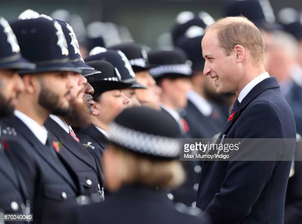 Prince William Duke of Cambridge attends the Metropolitan Police Service Passing Out Parade for new recruits at the Metropolitan Police Service...