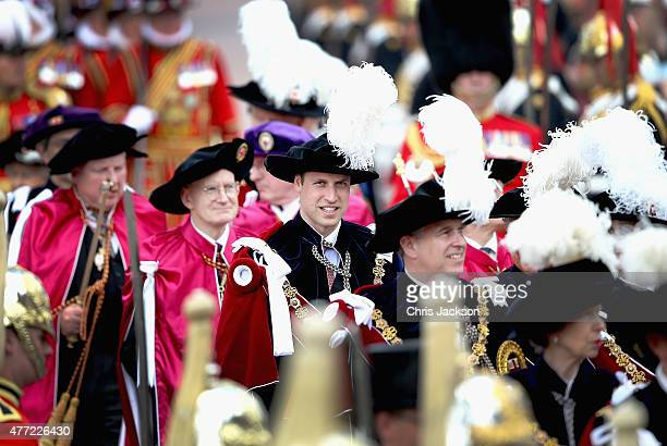 Prince William Duke of Cambridge attends the Order of the Garter Service at St George's Chapel at Windsor Castle on June 15 2015 in Windsor England...