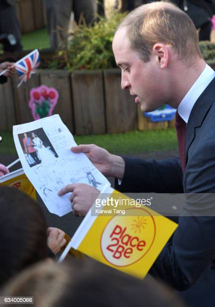 Prince William, Duke of Cambridge attends the Place2Be Big Assembly With Heads Together for Children's Mental Health Week at Mitchell Brook Primary...