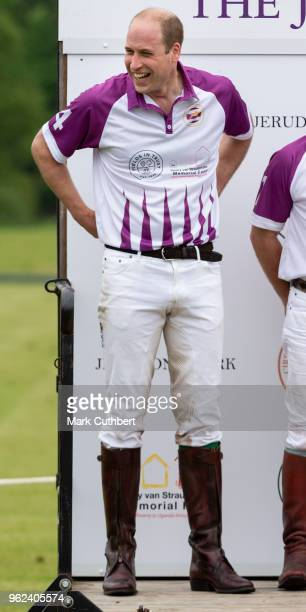 Prince William Duke of Cambridge attends the presentations at The Jerudong Park Polo Day at Cirencester Park Polo Club on May 25 2018 in Cirencester...