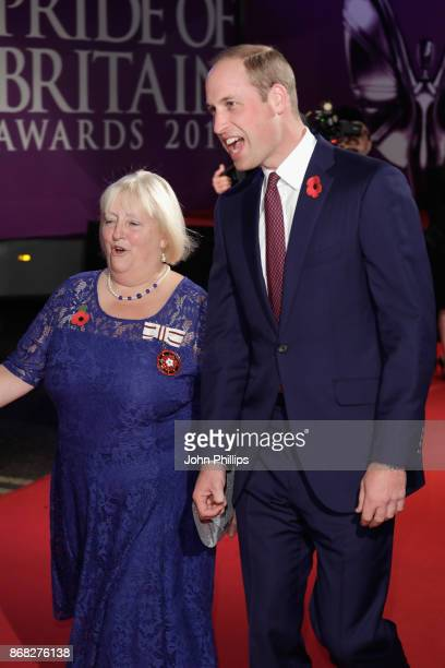 Prince William Duke of Cambridge attends the Pride Of Britain Awards at Grosvenor House on October 30 2017 in London England