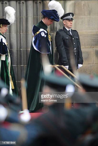 Prince William, Duke of Cambridge attends the Thistle Service for his installation of The Prince William, Earl of Strathearn, as Knight of the...