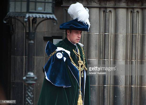 Prince William, Duke of Cambridge attends the Thistle Service for his installation as a Knight of the Thistle at St. Giles Cathedral on July 05, 2012...
