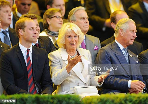 Prince William Duke of Cambridge Camilla Duchess of Cornwall and Prince Charles Prince of Wales attend the Opening Ceremony of the Invictus Games at...
