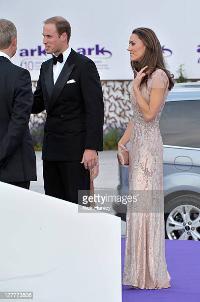 Prince William, Duke of Cambridge, Catherine and Duchess of Cambridge attend the 10th Annual ARK gala dinner at Kensington Palace on June 9, 2011 in...