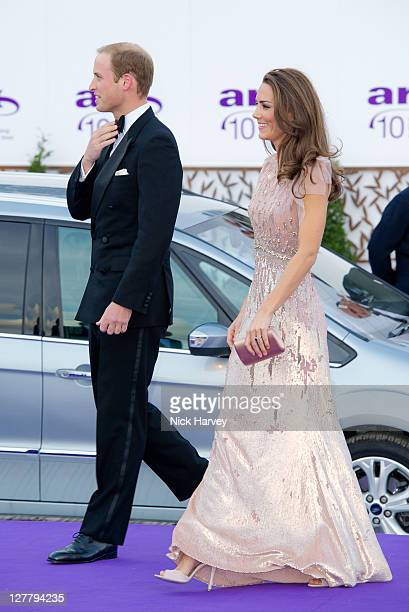 Prince William, Duke of Cambridge, Catherine and Duchess of Cambridge attends the 10th Annual ARK gala dinner at Kensington Palace on June 9, 2011 in...