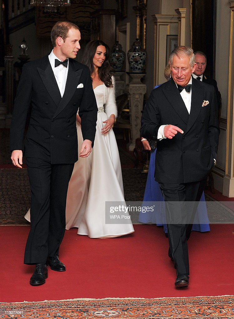 Prince William, Duke of Cambridge (L), Catherine, Duchess of Cambridge and Prince Charles, Prince of Wales leave Clarence House to travel to Buckingham Palace for the evening celebrations following the wedding of Prince William, Duke of Cambridge and Catherine, Duchess of Cambridge on April 29, 2011 in London, England. The marriage of the second in line to the British throne was led by the Archbishop of Canterbury and was attended by 1900 guests, including foreign Royal family members and heads of state. Thousands of well-wishers from around the world have also flocked to London to witness the spectacle and pageantry of the Royal Wedding.