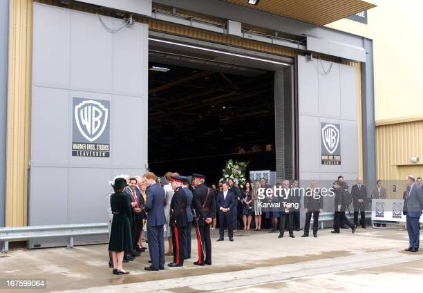 Prince William Duke of Cambridge Catherine Duchess of Cambridge and Prince Harry attend the inauguration of Warner Bros Studio Tour London on April...