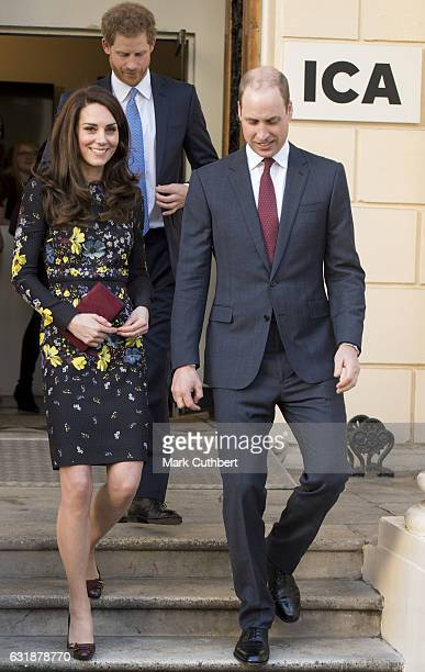 Prince William, Duke of Cambridge, Catherine, Duchess of Cambridge and Prince Harry attend a briefing to announce plans for Heads Together ahead of...
