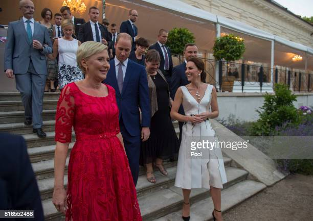 Prince William Duke of Cambridge Catherine Duchess of Cambridge and Poland's First Lady Agata KornhauserDuda attend the Queen's Birthday Garden Party...