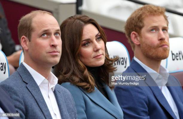 Prince William Duke of Cambridge Catherine Duchess of Cambridge and Prince Harry attend the Coach Core graduation ceremony for more than 150 Coach...