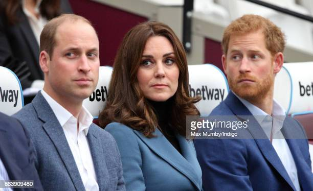 Prince William, Duke of Cambridge, Catherine, Duchess of Cambridge and Prince Harry attend the Coach Core graduation ceremony for more than 150 Coach...