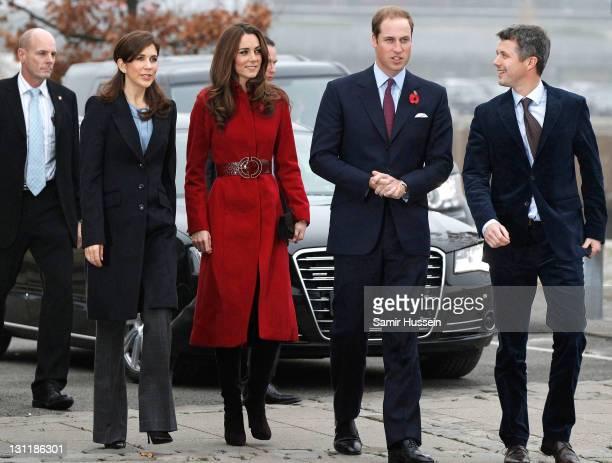Prince William Duke of Cambridge Catherine Duchess of Cambridge Crown Prince Frederik of Denmark and Crown Princess Mary of Denmark visit the UNICEF...