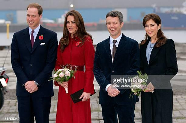 Prince William Duke of Cambridge Catherine Duchess of Cambridge Crown Prince Frederik of Denmark and Crown Princess Mary of Denmark arrive for a...