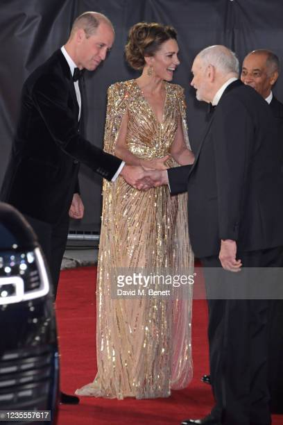 Prince William, Duke of Cambridge,, Catherine, Duchess of Cambridge, Michael G. Wilson and The Lord-Lieutenant of Greater London, Sir Kenneth Olisa...