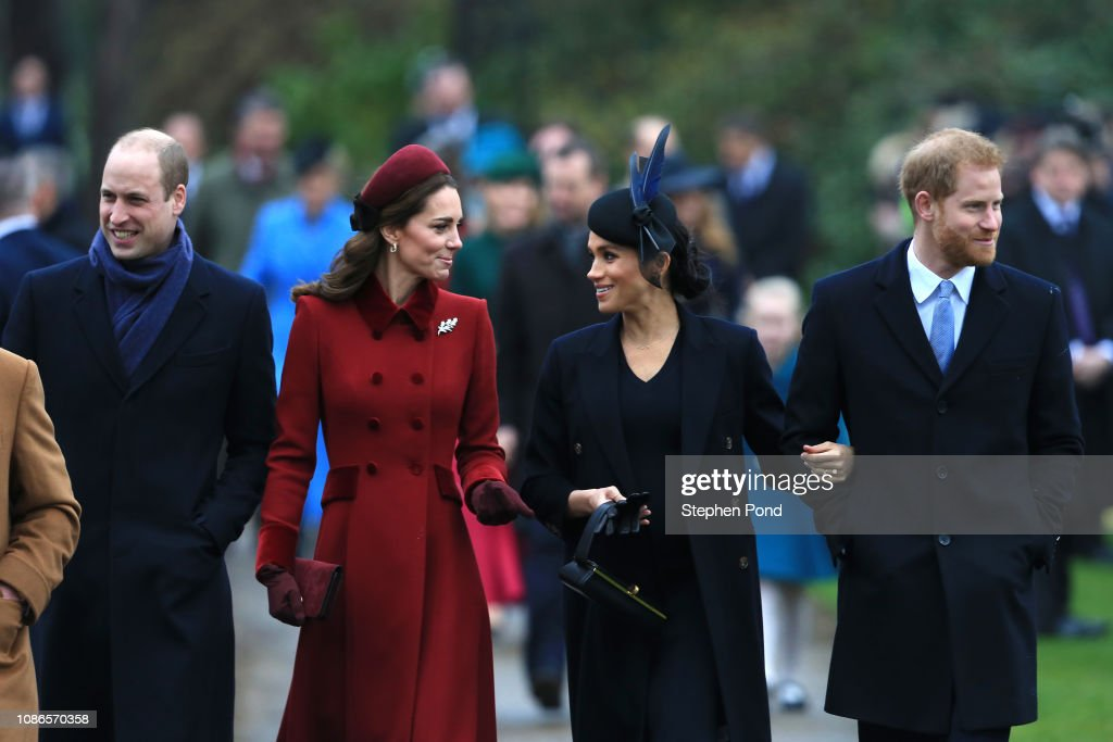 The Royal Family Attend Church On Christmas Day : Foto di attualità
