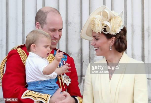 Prince William Duke of Cambridge Catherine Duchess of Cambridge Prince Louis of Cambridge Prince George of Cambridge and Princess Charlotte of...