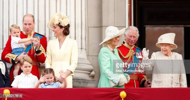 Prince William, Duke of Cambridge, Catherine, Duchess of Cambridge, Prince Louis of Cambridge, Prince George of Cambridge, Princess Charlotte of...