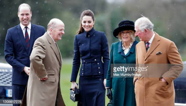 Prince William, Duke of Cambridge, Catherine, Duchess of Cambridge, Camilla, Duchess of Cornwall and Prince Charles, Prince of Wales visit the...